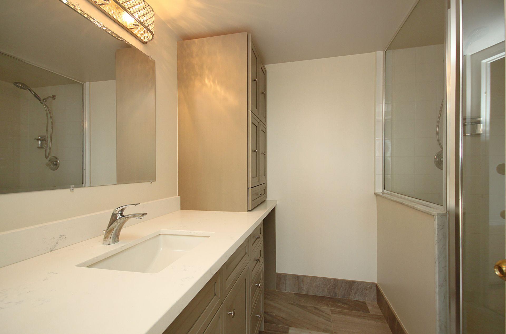 3 Piece Ensuite Bathroom at PH211 - 1121 Steeles Avenue W, Westminster-Branson, Toronto