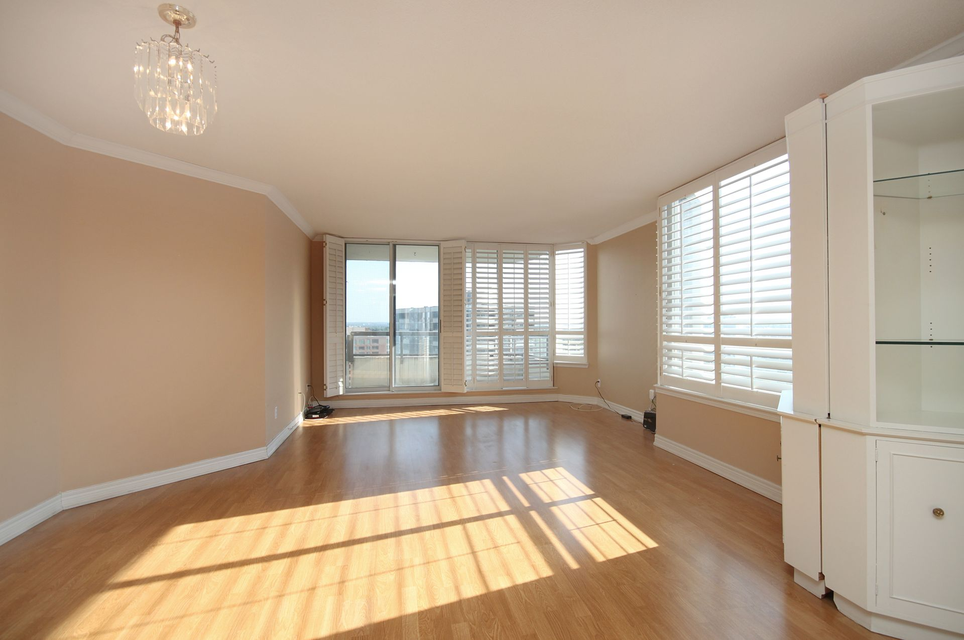 Living & Dining Room at PH211 - 1121 Steeles Avenue W, Westminster-Branson, Toronto