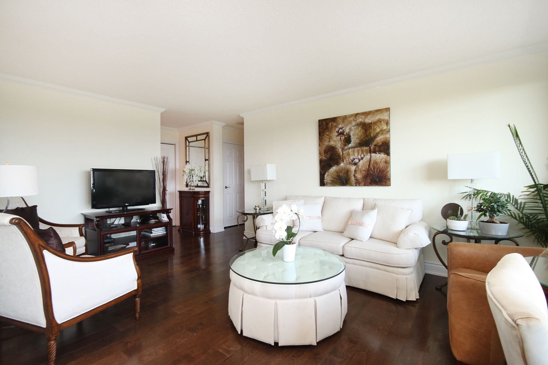 Living Room at 1105 - 75 Wynford Heights Crescent, Banbury-Don Mills, Toronto