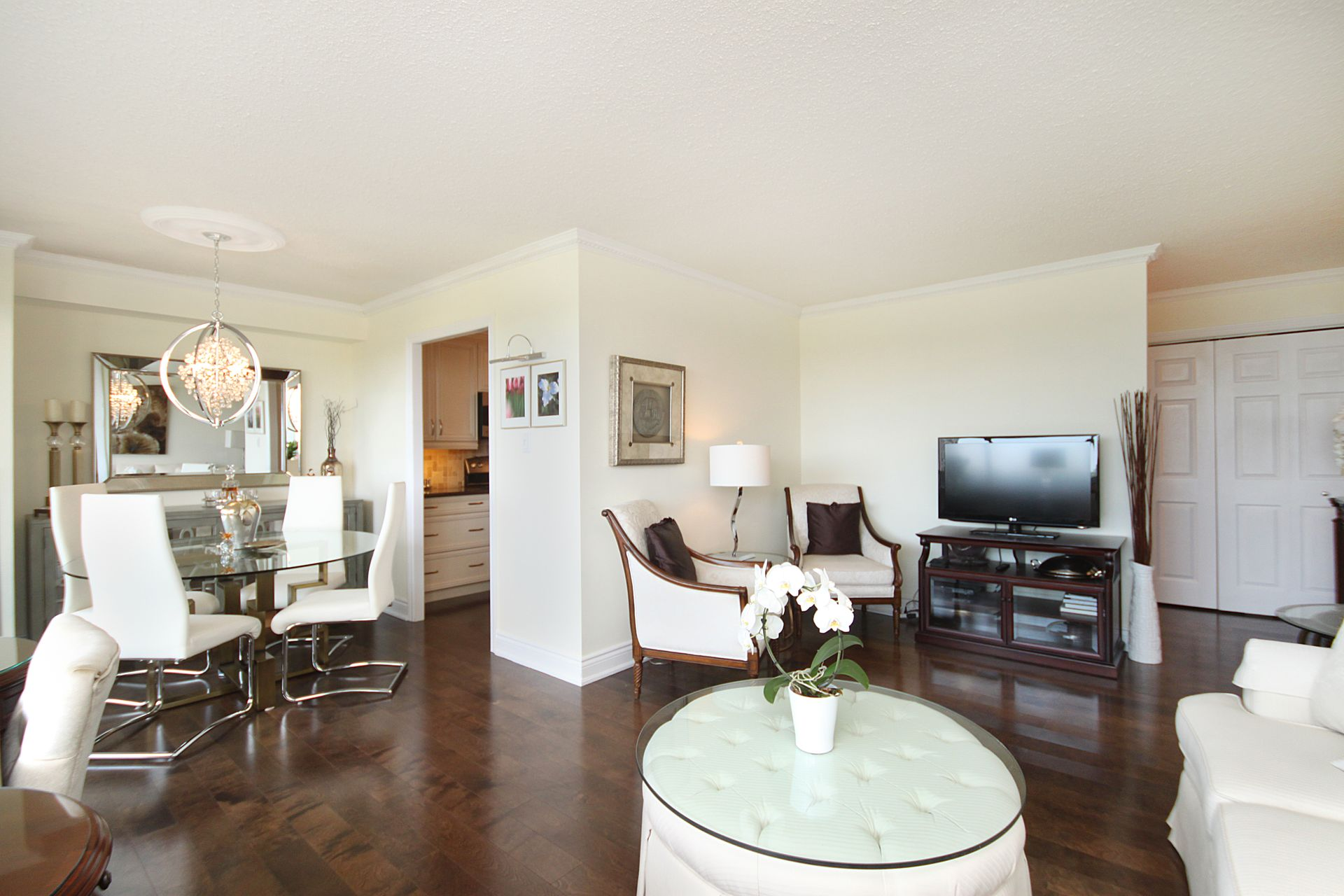 Living & Dining Room at 1105 - 75 Wynford Heights Crescent, Banbury-Don Mills, Toronto