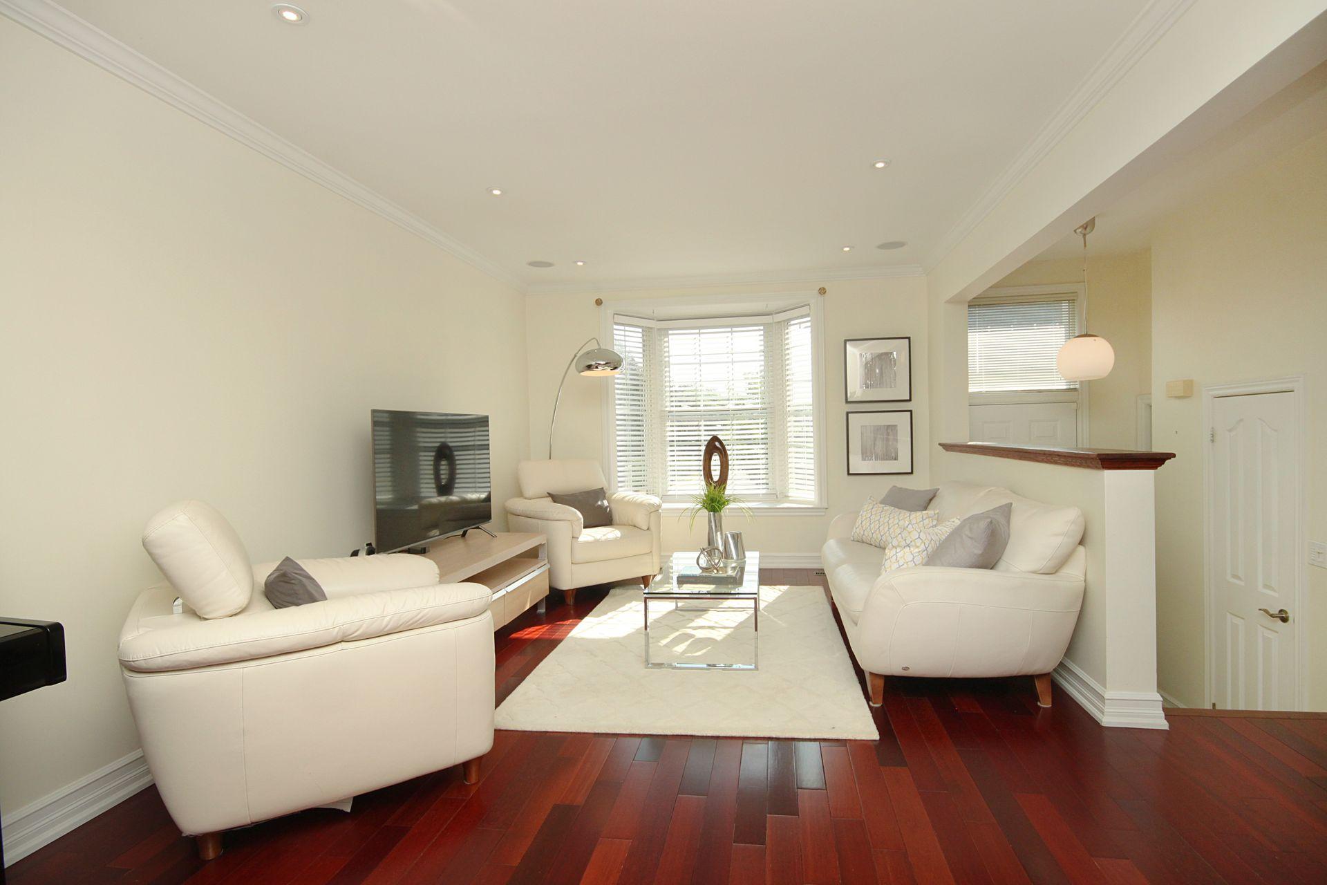 Living Room at 53 Stonedale Placeway, Banbury-Don Mills, Toronto