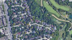Aerial at 4 Legato Court, Banbury-Don Mills, Toronto