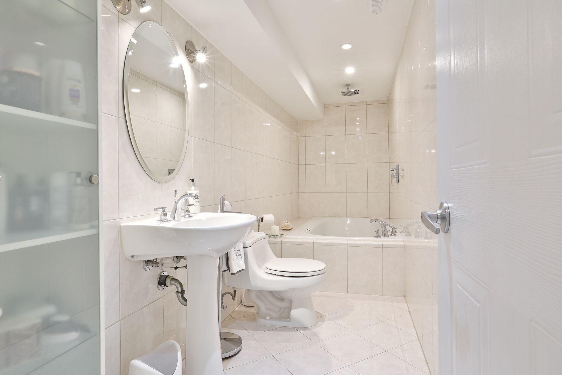 4 Piece Bathroom at 4 Legato Court, Banbury-Don Mills, Toronto