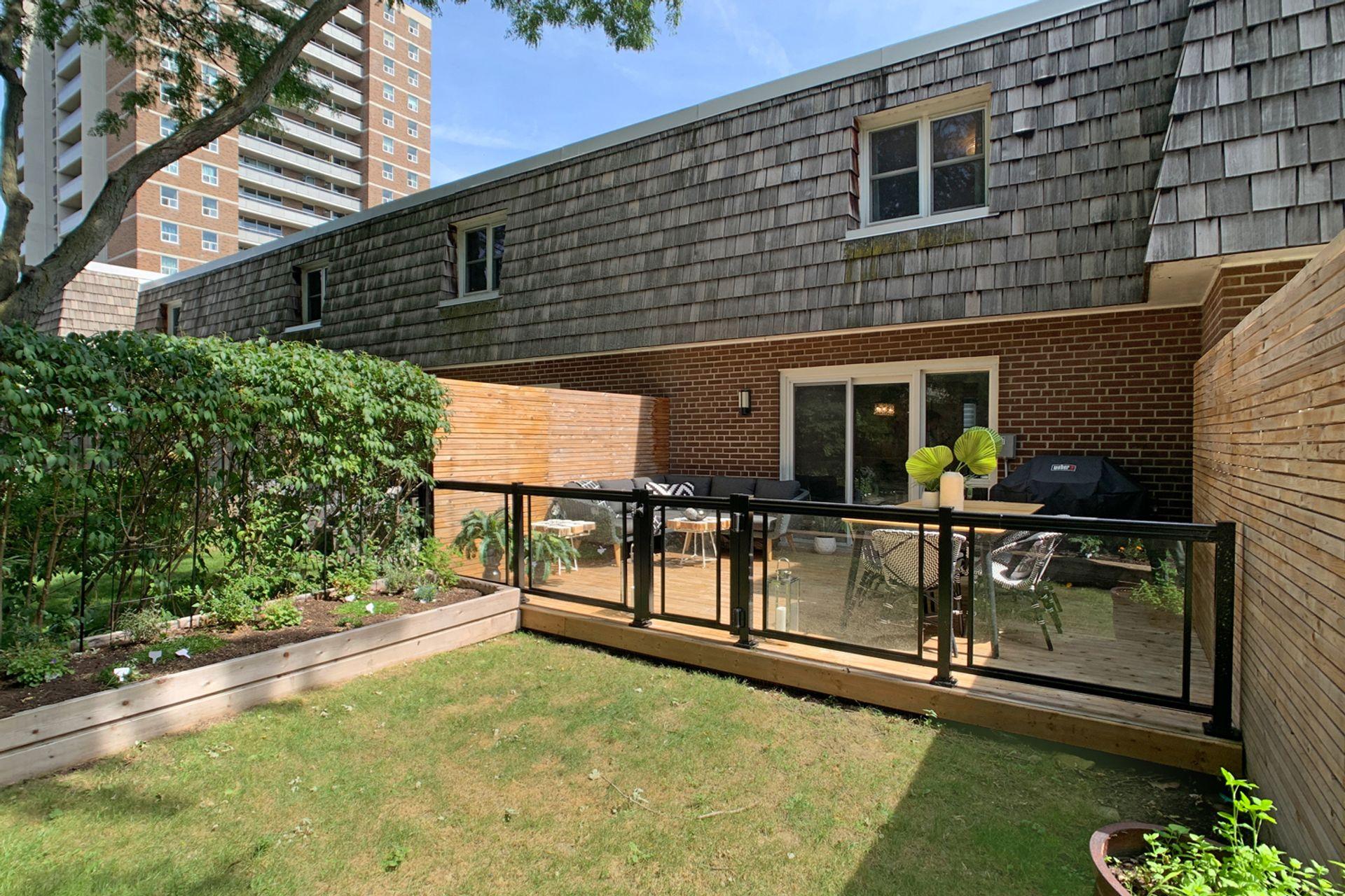 Backyard at 57 Stonedale Placeway, Banbury-Don Mills, Toronto