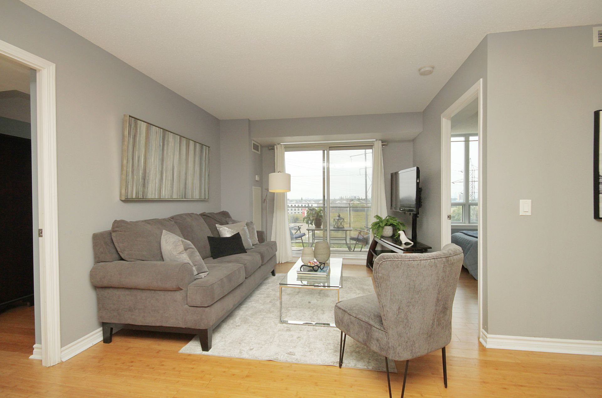 Living Room at 610 - 1730 Eglinton Avenue E, Victoria Village, Toronto
