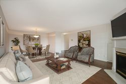 Living Room & Dining Room with Virtual Staging at 810 - 18 Concorde Place, Banbury-Don Mills, Toronto