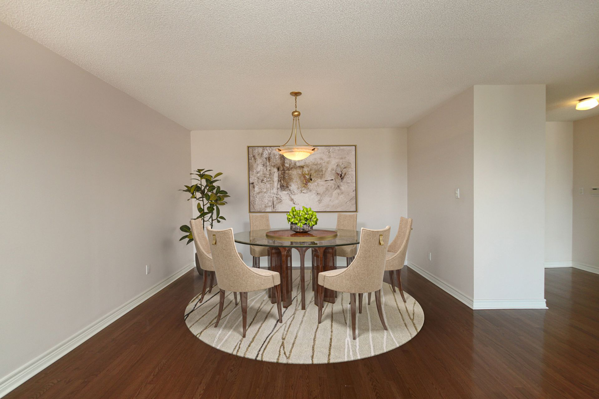 Dining Room with Virtual Staging at 810 - 18 Concorde Place, Banbury-Don Mills, Toronto