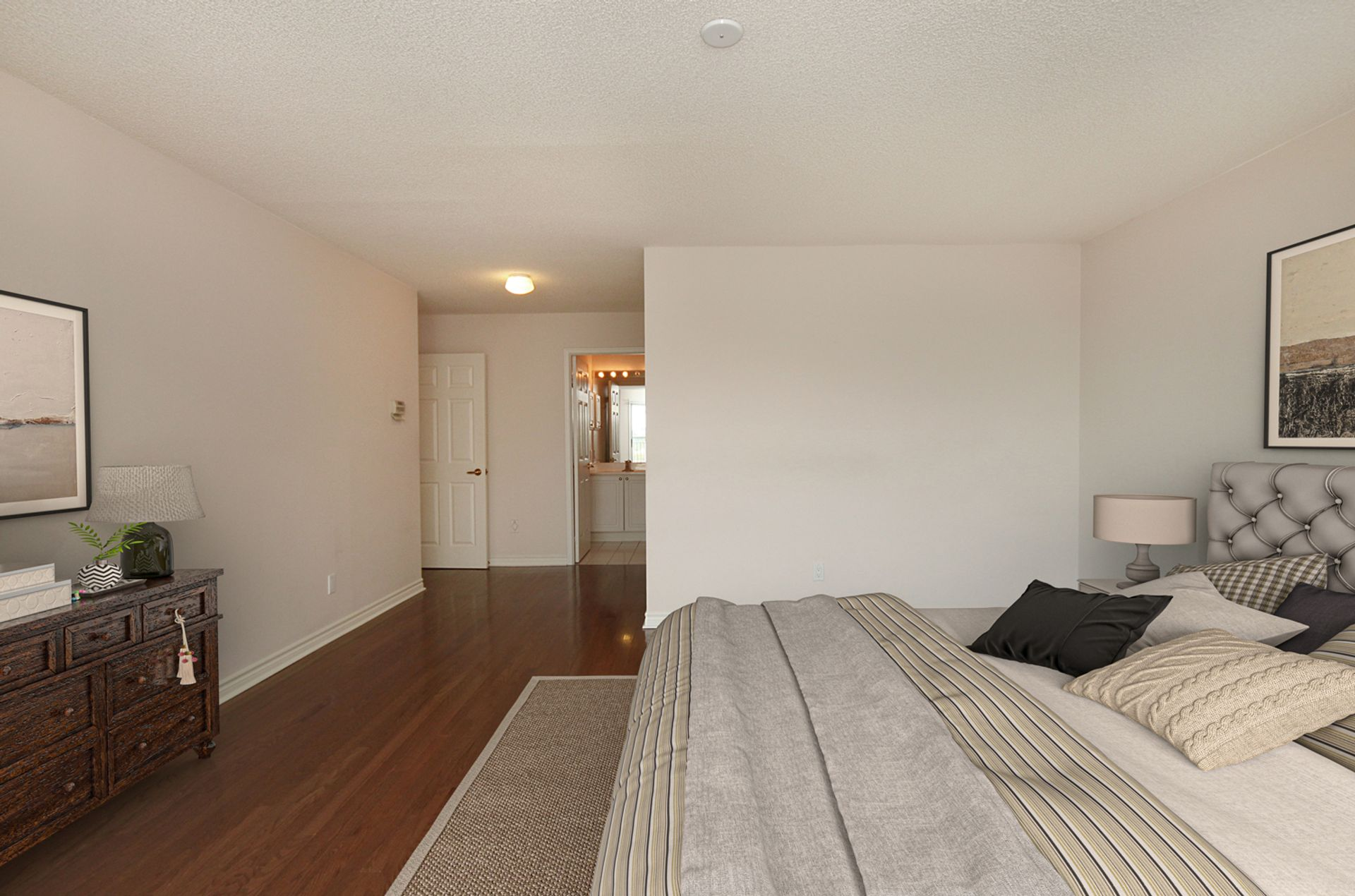 Primary Bedroom with Virtual Staging at 810 - 18 Concorde Place, Banbury-Don Mills, Toronto