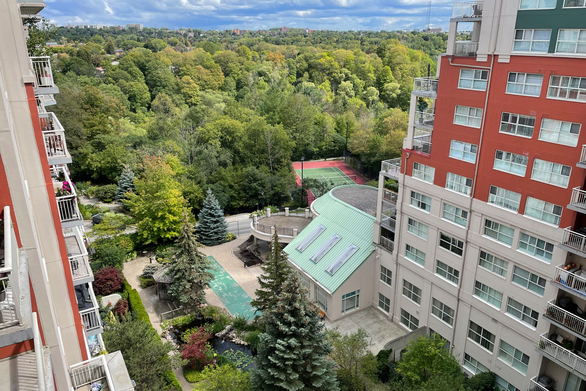 View from Primary Bedroom at 810 - 18 Concorde Place, Banbury-Don Mills, Toronto
