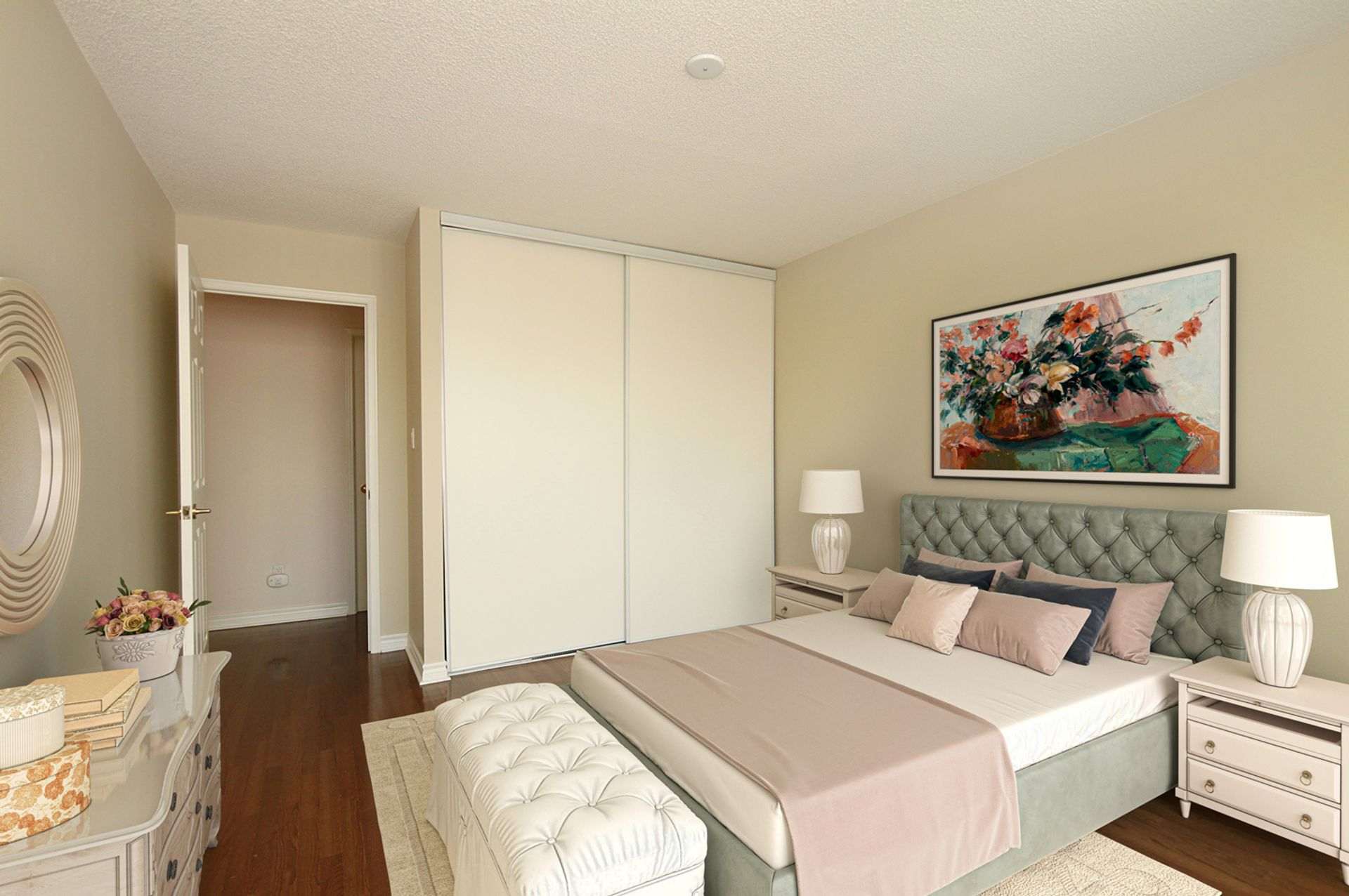 Bedroom Virtual Staging at 810 - 18 Concorde Place, Banbury-Don Mills, Toronto