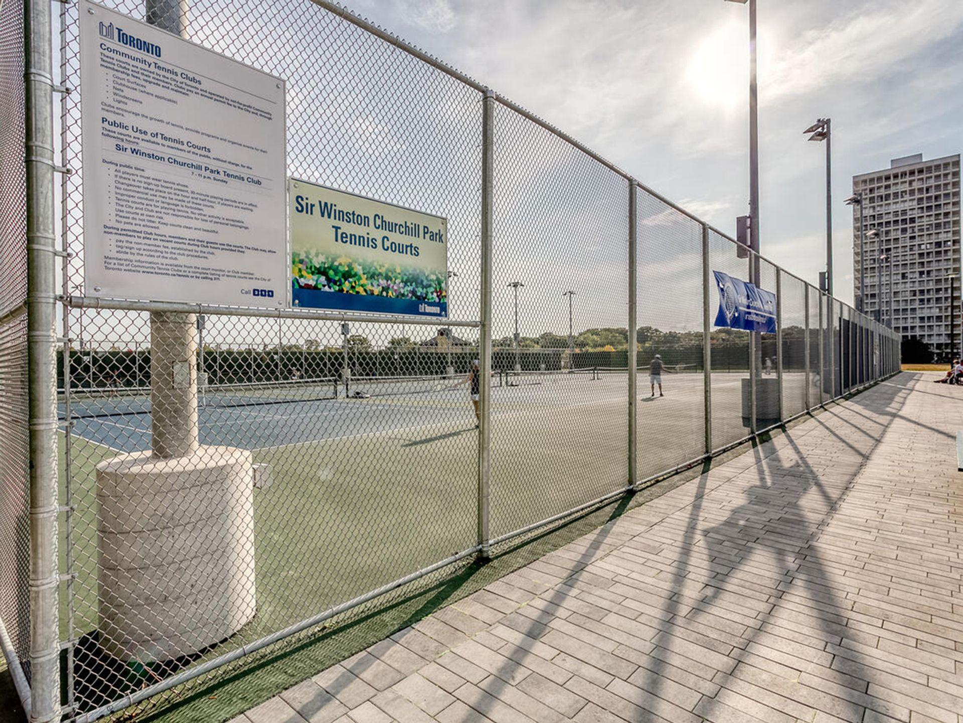 Tennis Court at 305 - 150 St. Clair Avenue W, Yonge-St. Clair, Toronto