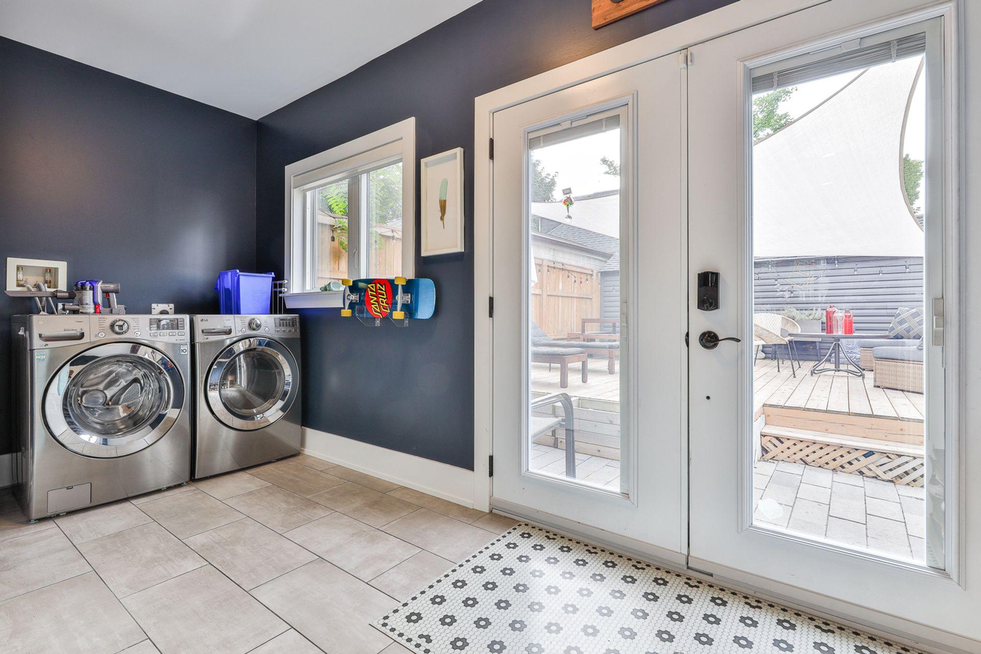 Laundry Room at 497 St. Johns Road, Lambton Baby Point, Toronto
