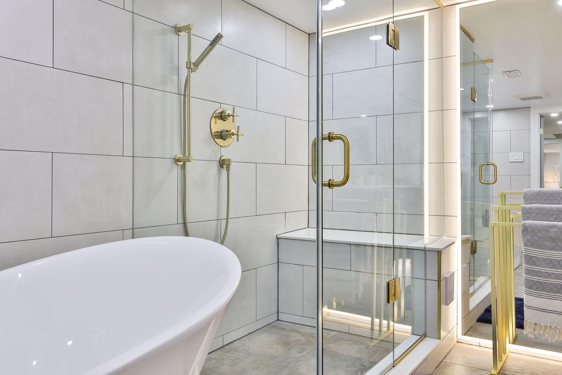 5 Piece Bathroom & Sauna at 497 St. Johns Road, Lambton Baby Point, Toronto