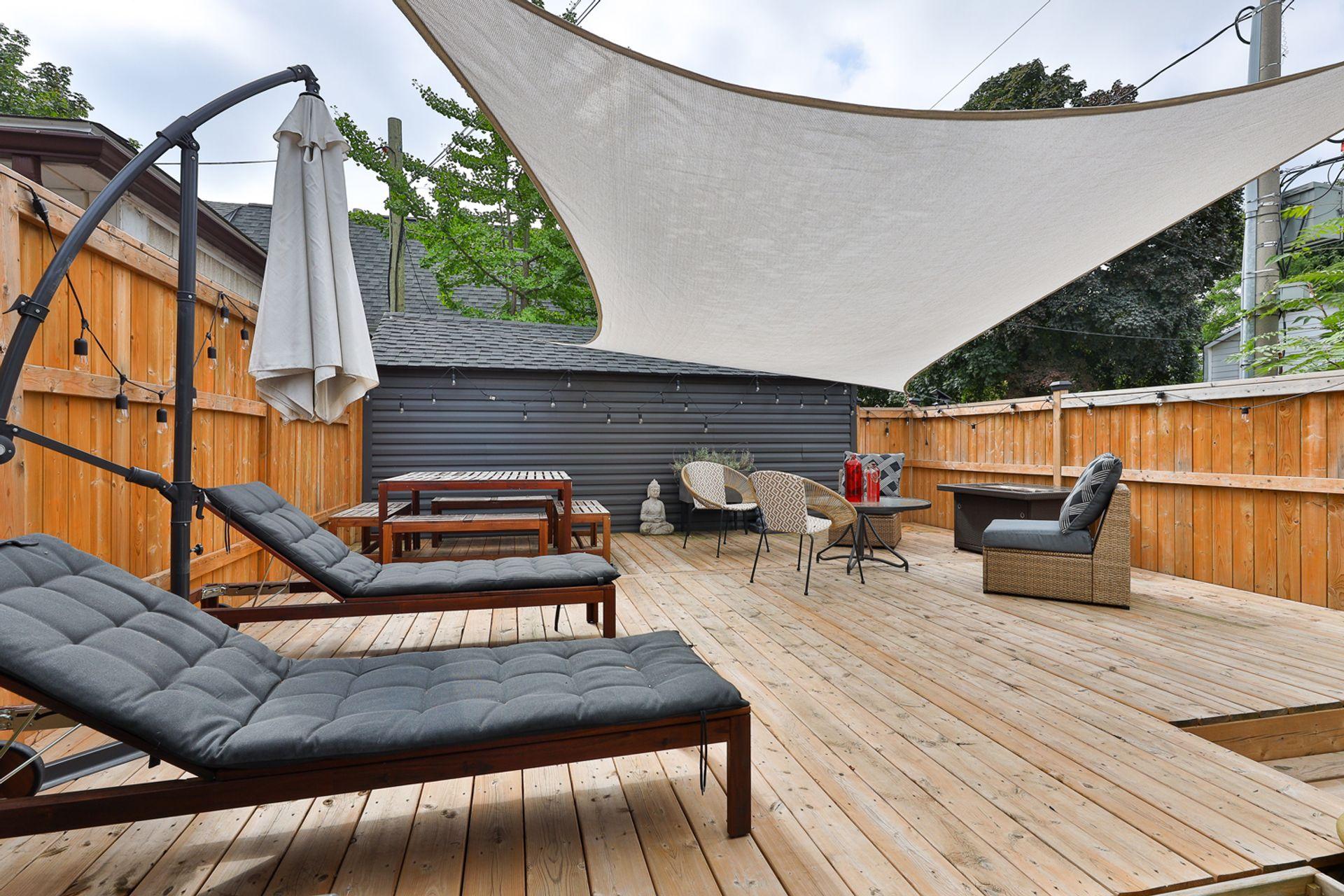 Backyard at 497 St. Johns Road, Lambton Baby Point, Toronto
