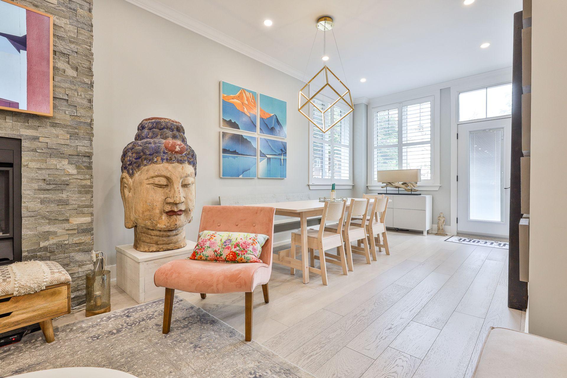 Dining Room at 497 St. Johns Road, Lambton Baby Point, Toronto