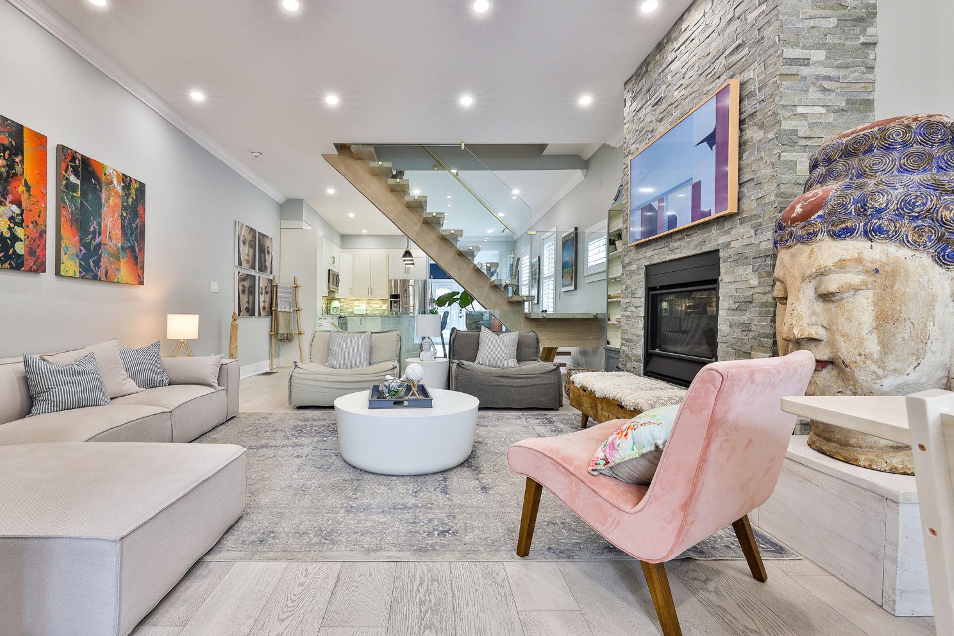 Living Room at 497 St. Johns Road, Lambton Baby Point, Toronto