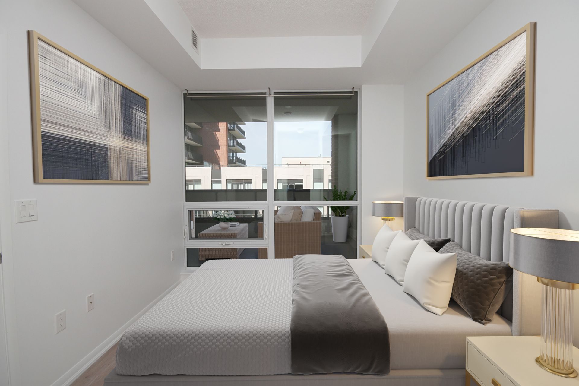 Primary Bedroom Virtually Staged at 814 - 830 Lawrence Avenue W, Yorkdale-Glen Park, Toronto