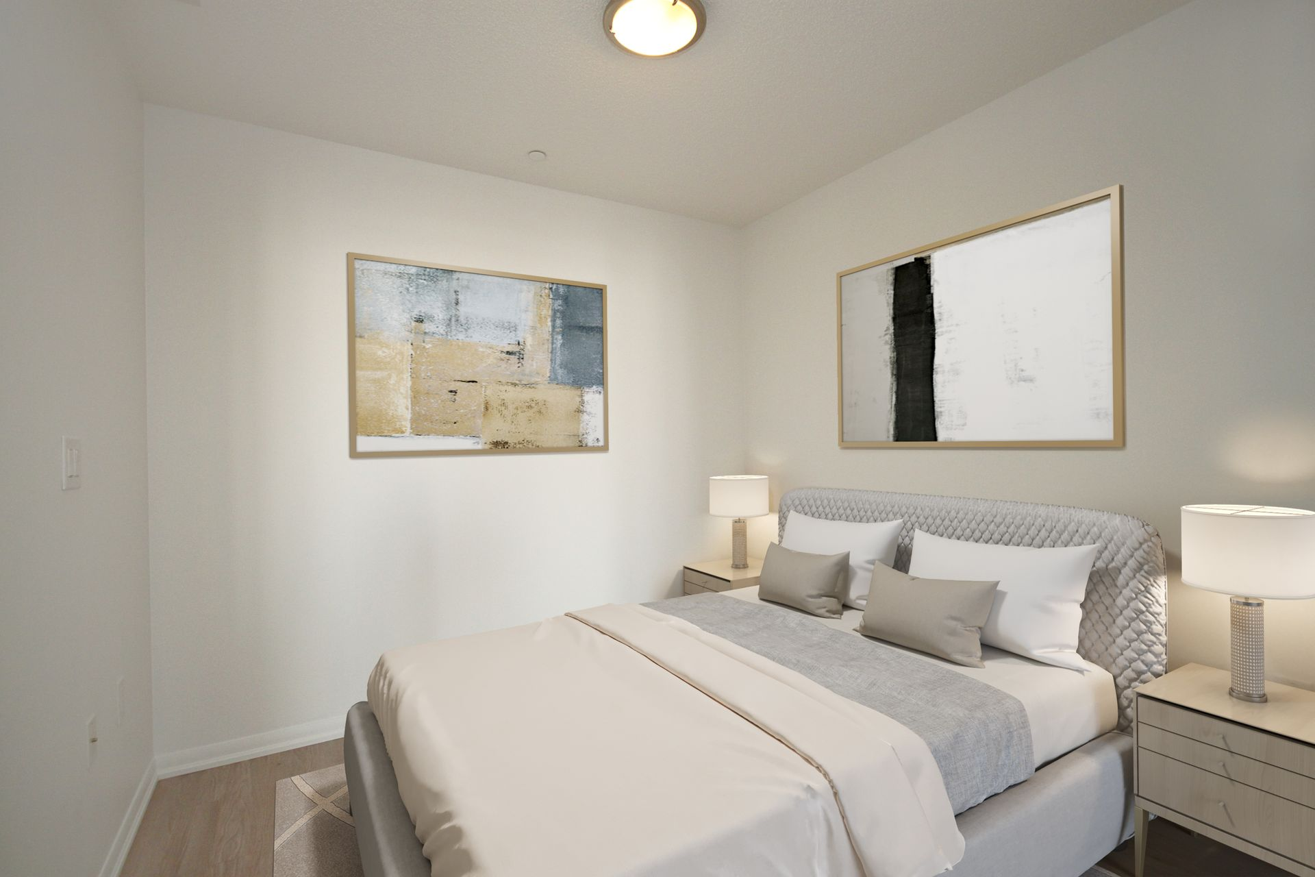 Bedroom Virtually Staged at 814 - 830 Lawrence Avenue W, Yorkdale-Glen Park, Toronto