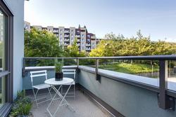 Balcony at 101 - 1477 Fountain Way, False Creek, Vancouver West