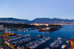 View-North-Close at 2403 - 555 Jervis Street, Coal Harbour, Vancouver West