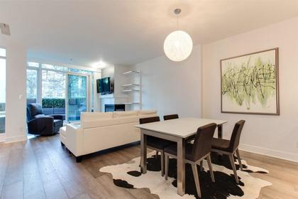 family sized living room overlooking the patio at 491 Broughton, Coal Harbour, Vancouver West