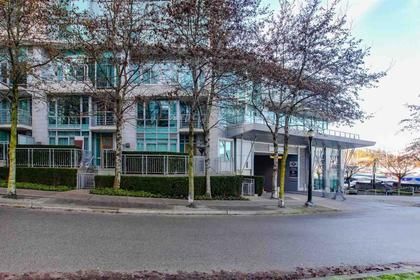exterior front from the boardwalk along the harbour front at 491 Broughton, Coal Harbour, Vancouver West