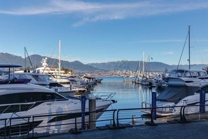 Coal Harbour Marina view from your doorstep at 491 Broughton, Coal Harbour, Vancouver West