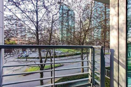 balcony view to the east at 491 Broughton, Coal Harbour, Vancouver West