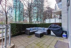 Large entertainment sized patio overlooking the marina at 491 Broughton, Coal Harbour, Vancouver West