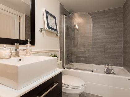 Ensuite Bathroom at 104 - 1989 West 1st Avenue, Kitsilano, Vancouver West
