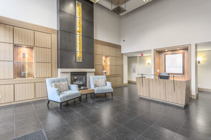 Lobby Entrance - spacious, Concierge on duty 8am to 11pm daily at 708 - 4685 Valley Drive, Quilchena, Vancouver West