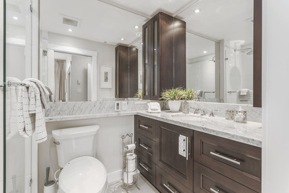 2nd bedroom ensuite - totally upgraded and modern at 708 - 4685 Valley Drive, Quilchena, Vancouver West