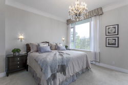 Large Master Bedroom with sitting area, 5 piece ensuite, large walk-in closet at 708 - 4685 Valley Drive, Quilchena, Vancouver West
