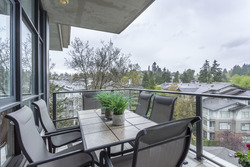 Large balcony / terrace facing west - enjoy the view or have a small dinner party  at 708 - 4685 Valley Drive, Quilchena, Vancouver West