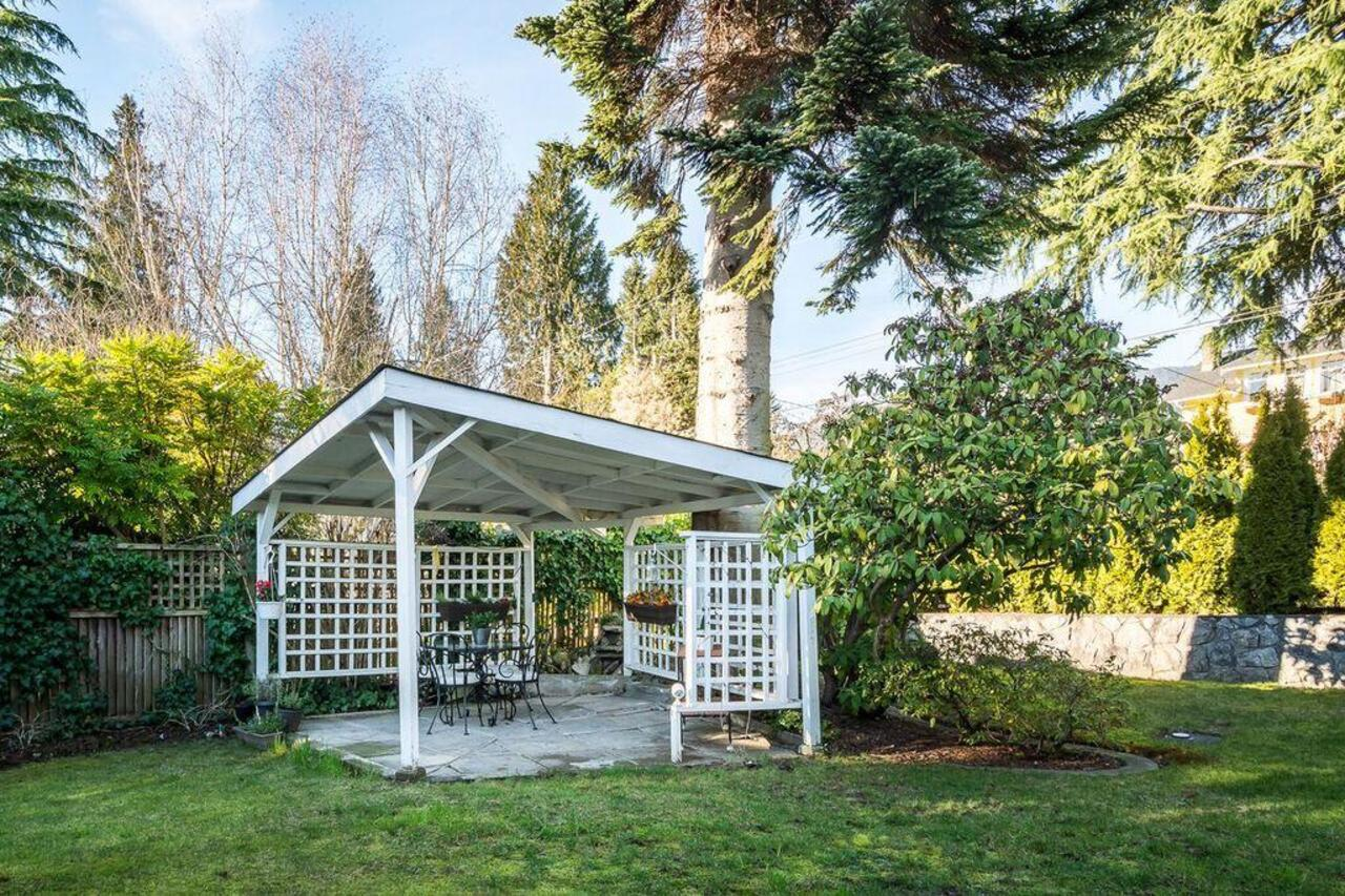 1456-Gordon-Ave-Front-Yard-Gazebo at 1456 Gordon Avenue, Ambleside, West Vancouver