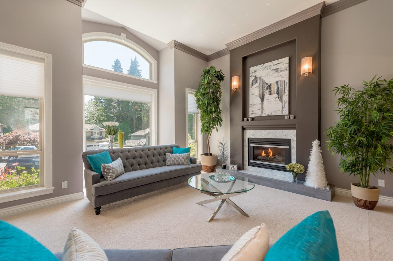 Living Room at 3303 Huntleigh Court, Windsor Park NV, North Vancouver