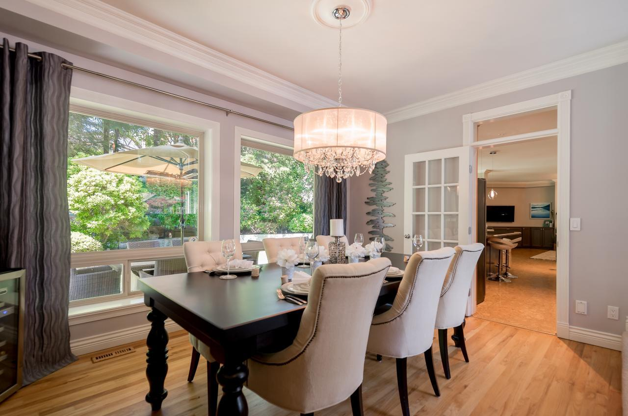 Dining Room at 3303 Huntleigh Court, Windsor Park NV, North Vancouver