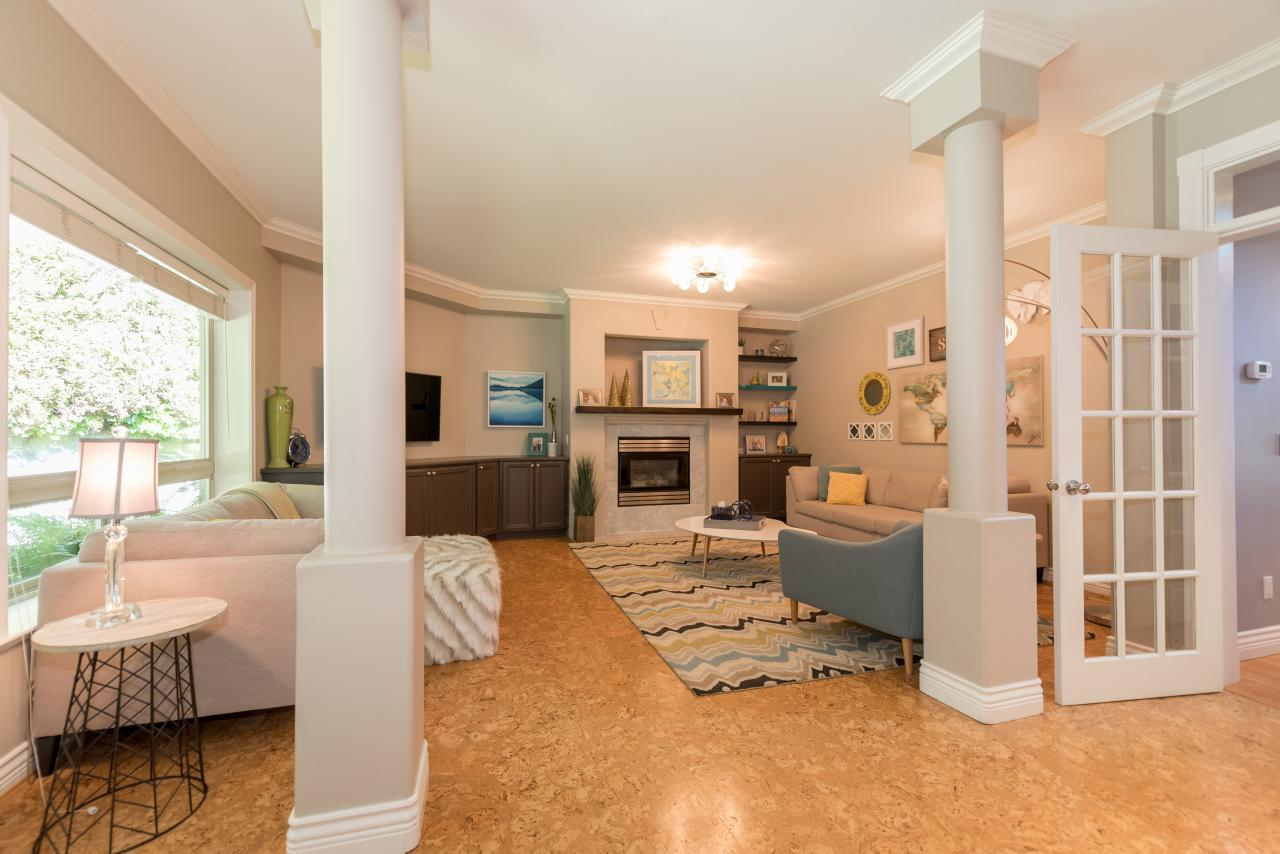 Family Room at 3303 Huntleigh Court, Windsor Park NV, North Vancouver