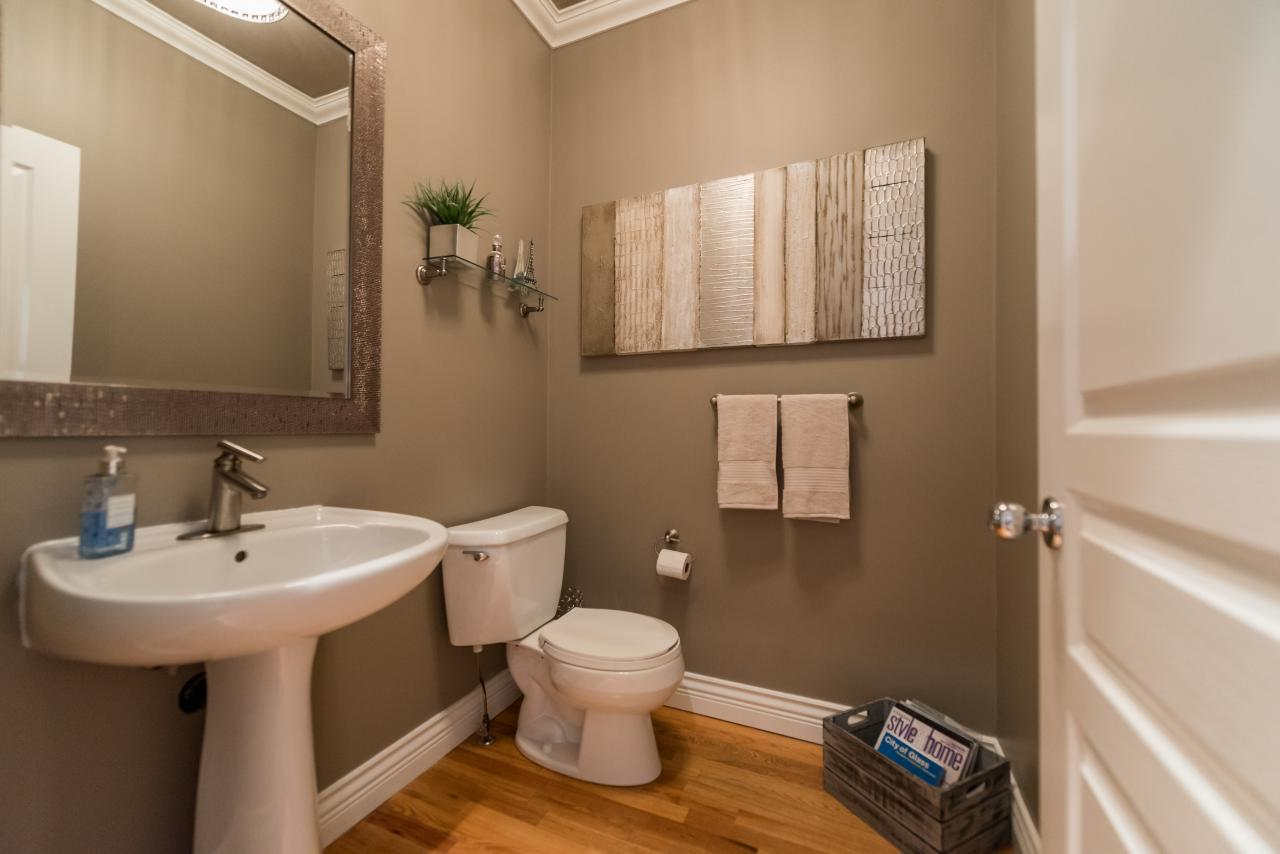 Powder Room at 3303 Huntleigh Court, Windsor Park NV, North Vancouver