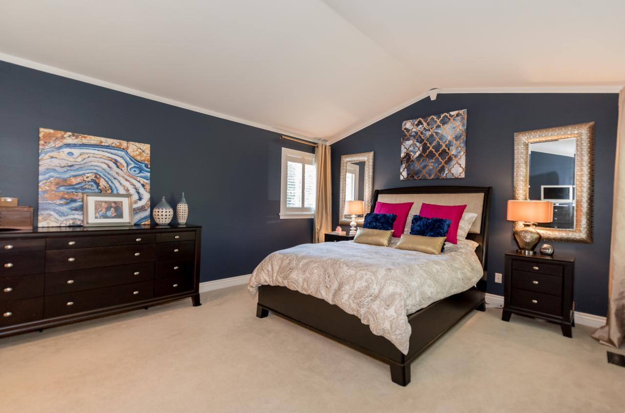 Master Bedroom at 3303 Huntleigh Court, Windsor Park NV, North Vancouver