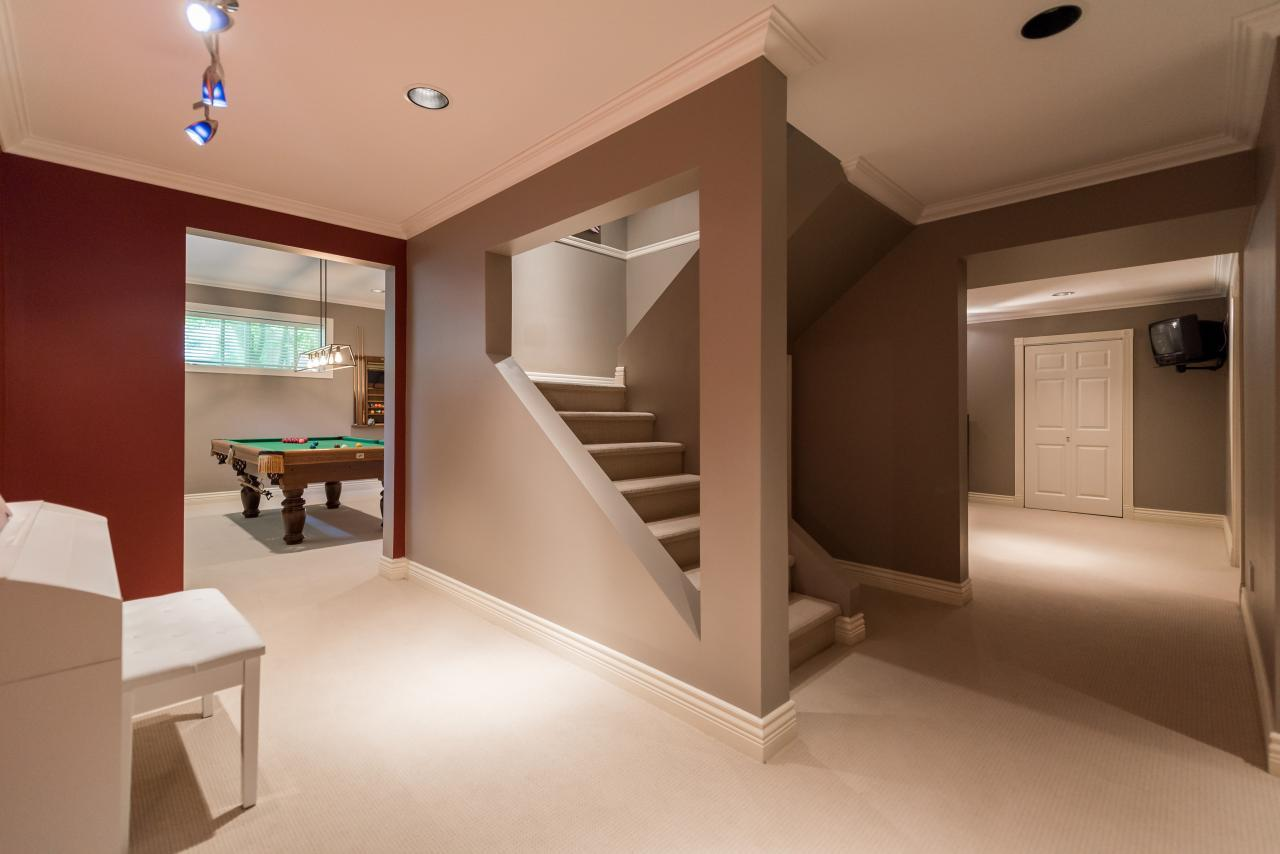Lower Floor Hallway at 3303 Huntleigh Court, Windsor Park NV, North Vancouver
