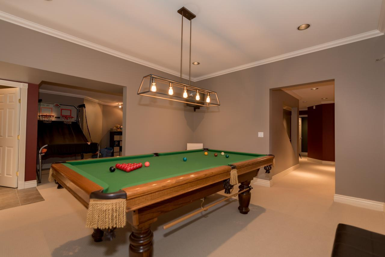 Games Room at 3303 Huntleigh Court, Windsor Park NV, North Vancouver