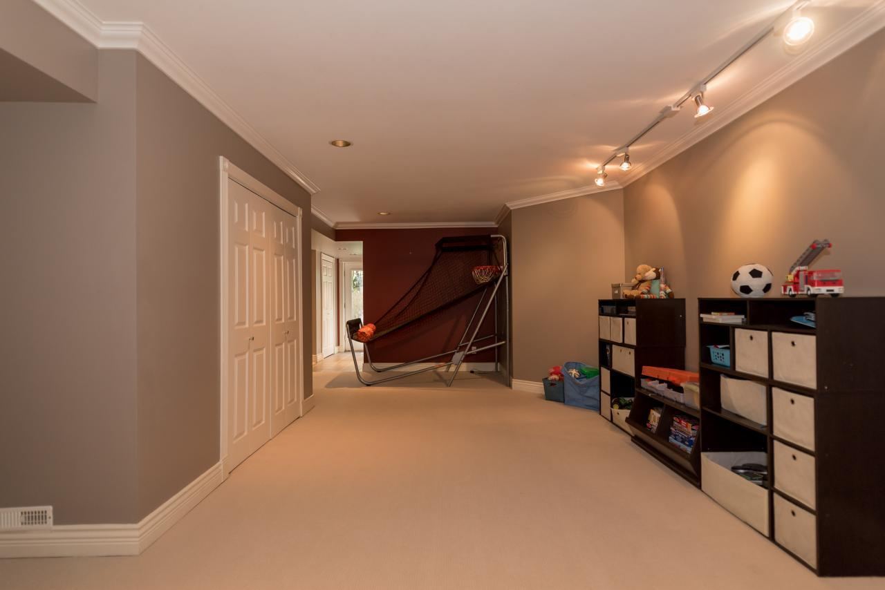 Rec Room at 3303 Huntleigh Court, Windsor Park NV, North Vancouver