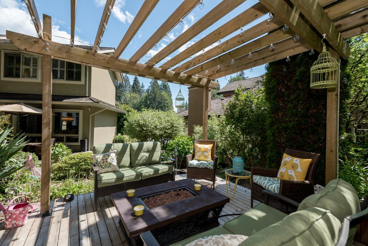 Rear Fire Pit Area at 3303 Huntleigh Court, Windsor Park NV, North Vancouver