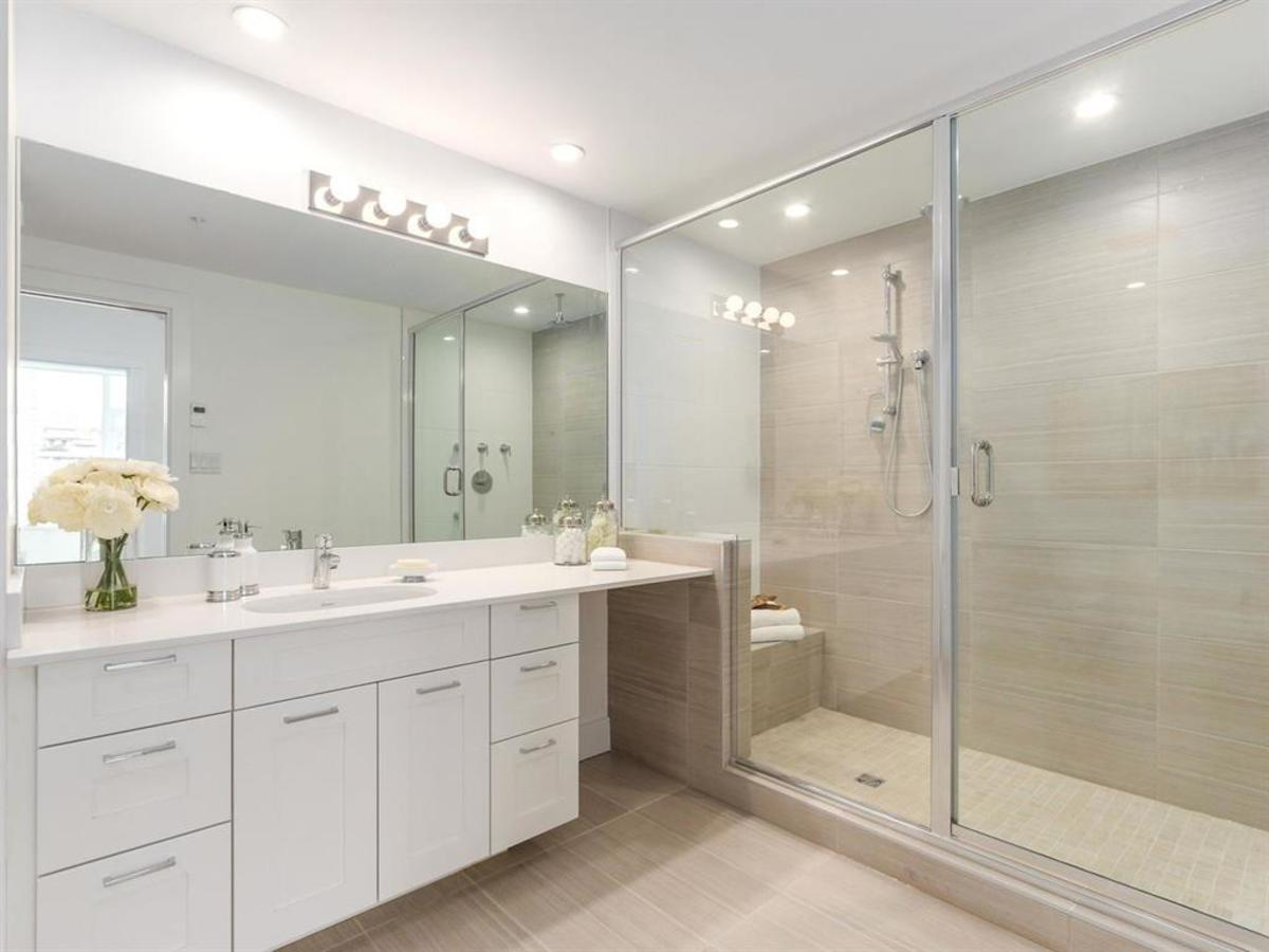 601-131-east-3rd-st-master-ensuite at 601 - 131 E 3rd Street, Lower Lonsdale, North Vancouver