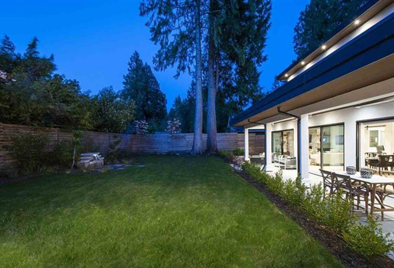 1120-tall-tree-lane-rear-yard at 1120 Tall Tree Lane, Canyon Heights NV, North Vancouver
