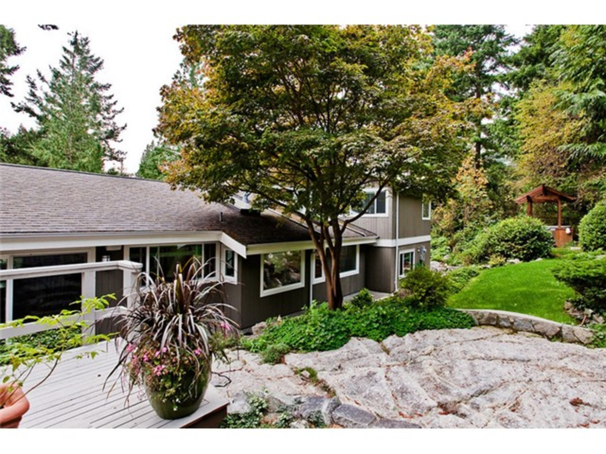 4643 Caulfeild Dr Rear View at 4643 Caulfeild Drive, Caulfeild, West Vancouver