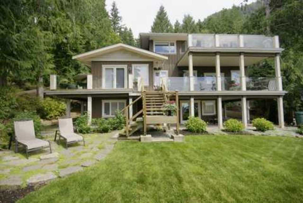 190 Mountain Dr Front at 190 Mountain Drive, Lions Bay, West Vancouver