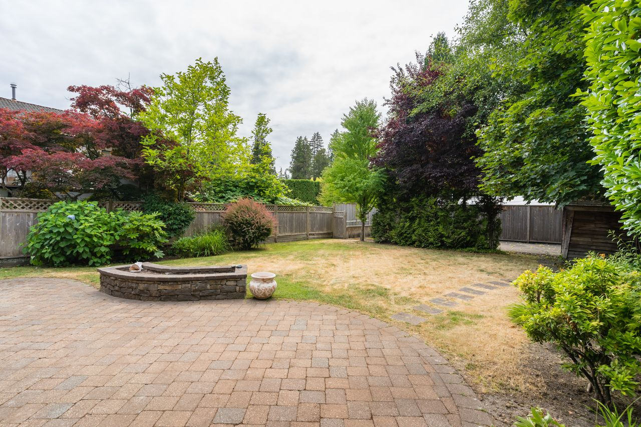 3827-lewister-ave-rear-yard at 3827 Lewister Road, Edgemont, North Vancouver
