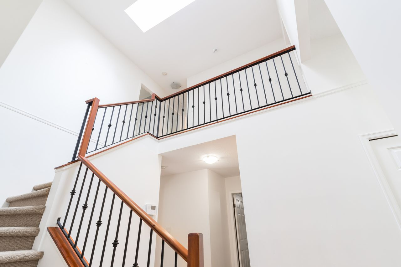3827-lewister-ave-stairwell at 3827 Lewister Road, Edgemont, North Vancouver